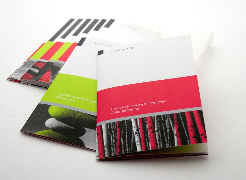 Clayton Utz: brochure design