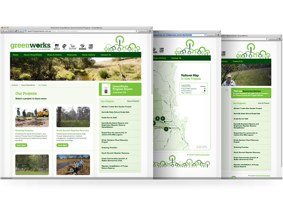 Greenworks website design and development