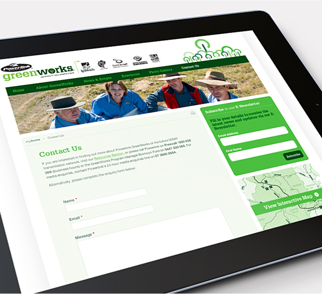 Greenworks website contact form