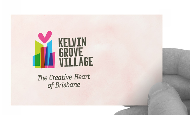 Kelvin Grove Village: logo and business card design