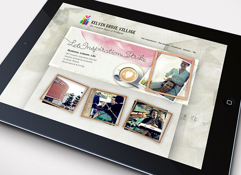 Kelvin Grove Village: website design imagery