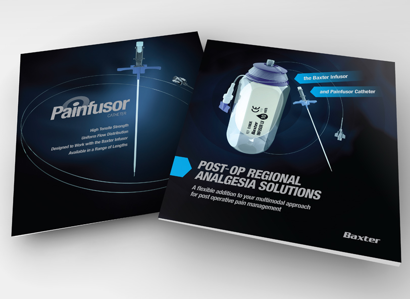 Painfusor fold out product brochure design