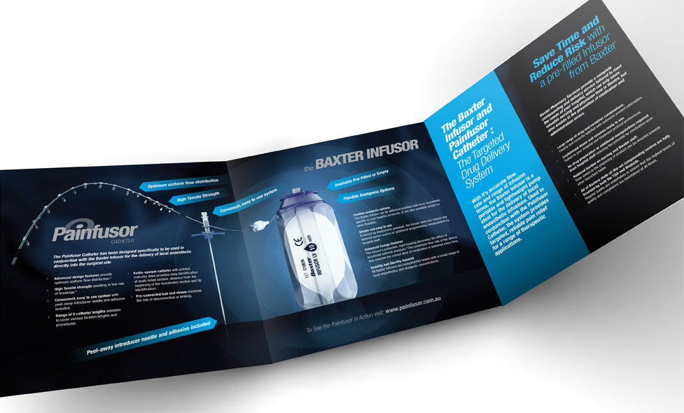 Painfusor fold out product brochure