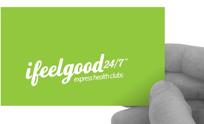 ifeelgood 24/7: logo and business card design