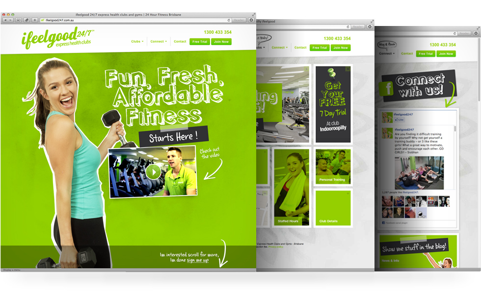 ifeelgood 24/7: website design and development