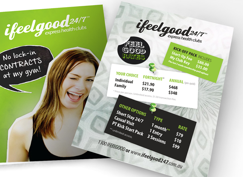 ifeelgood 24/7: membership fees flyer