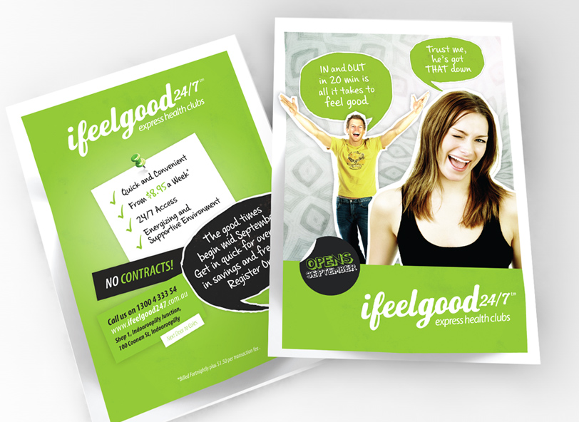 ifeelgood 24/7: flyer design