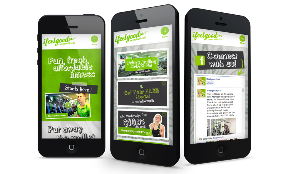 ifeelgood 24/7: mobile optimised website design and development