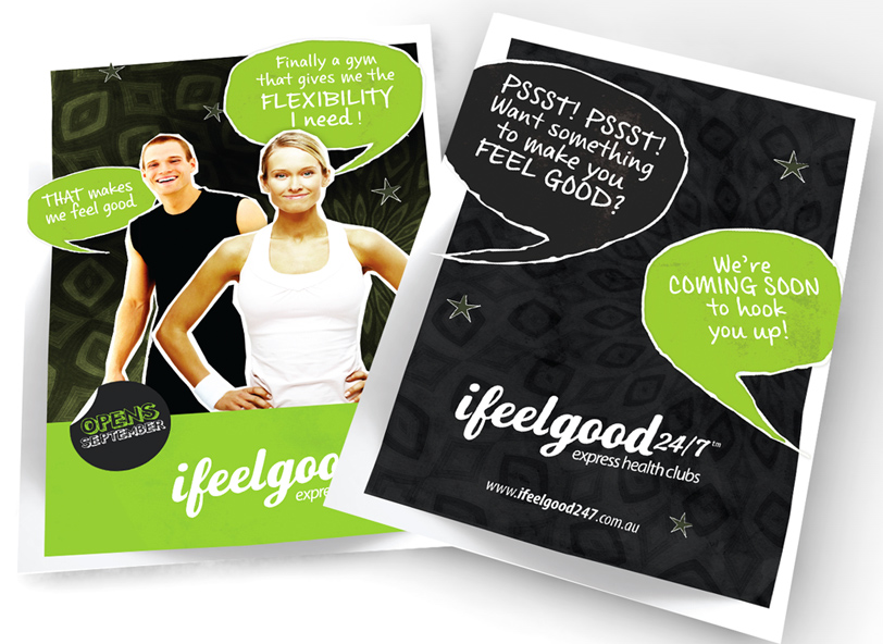 ifeelgood 24/7: direct mail and flyer design