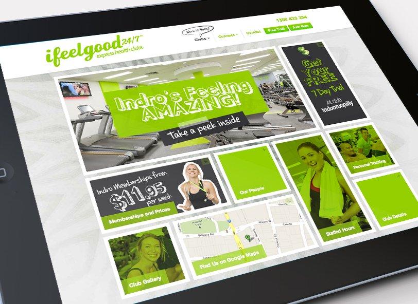 ifeelgood 24/7: responsive web design iPad
