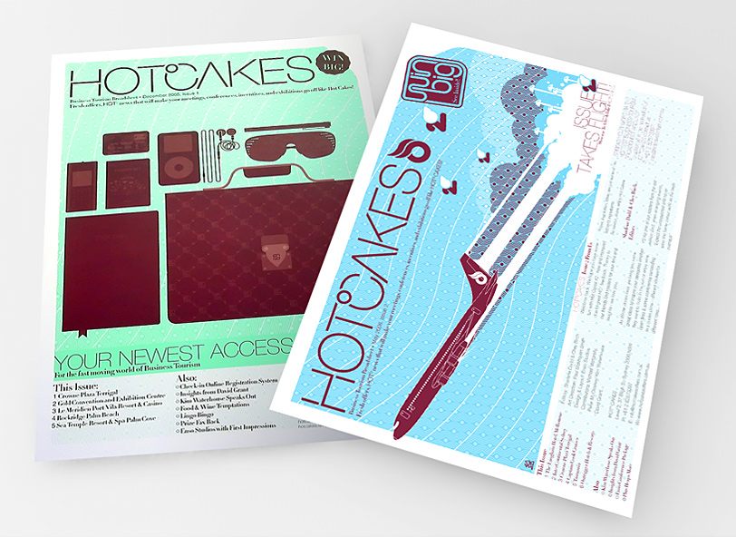 Hotcakes broadsheet design