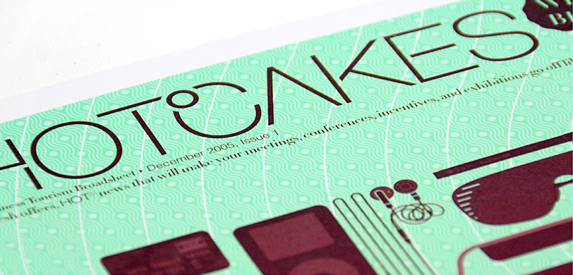 Hotcakes: broadsheet cover design detail