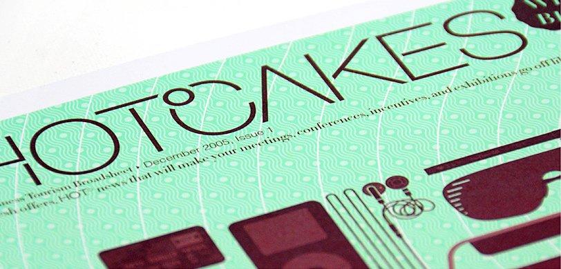 Hotcakes: broadsheet cover design detail