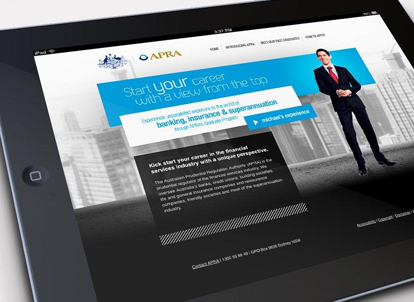 APRA Graduate Campaign website: graduate experience