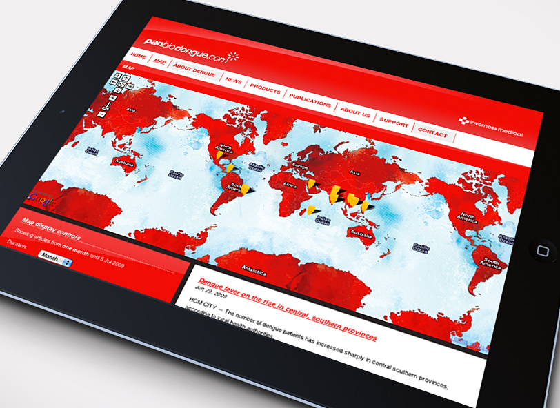 Panbio dengue: interactive world map
