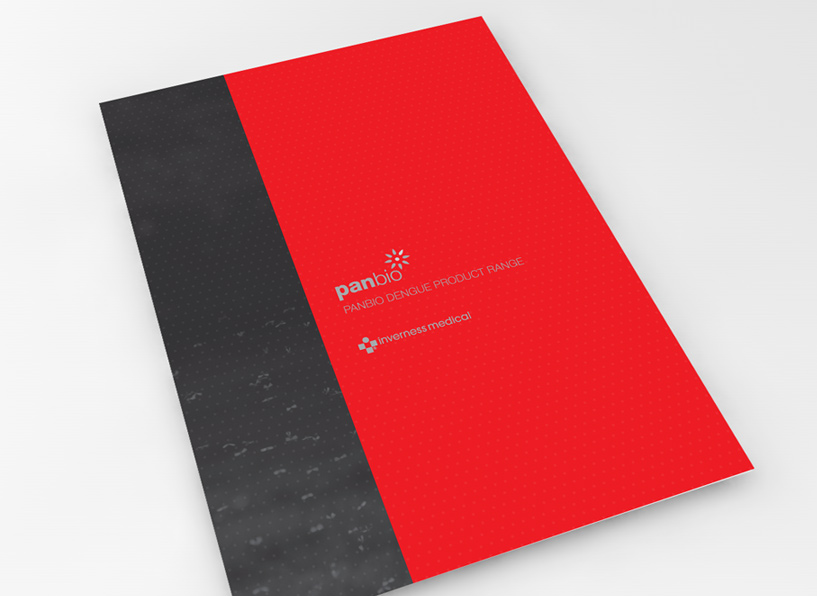 Panbio dengue visual identity: product range brochure