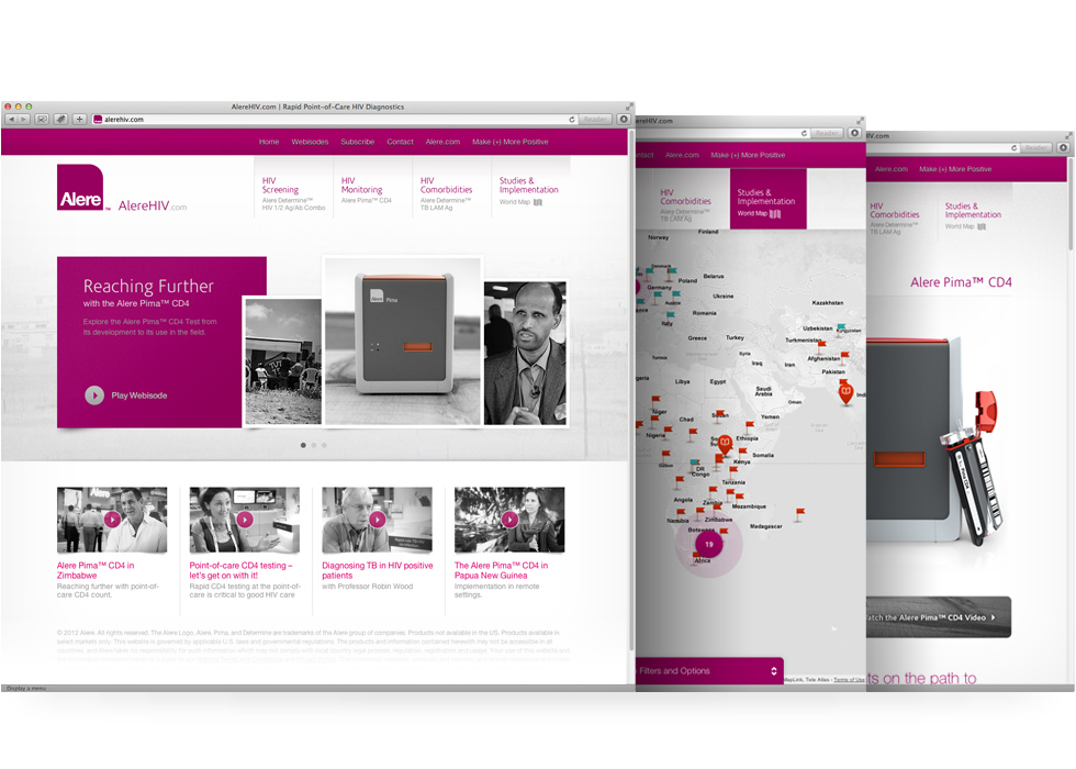 AlereHIV website design and development