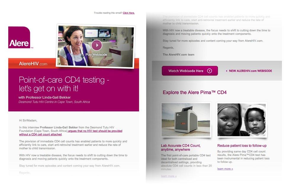 AlereHIV: website webisodes