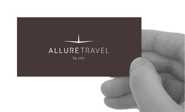 Allure Travel corporate ID: logo design
