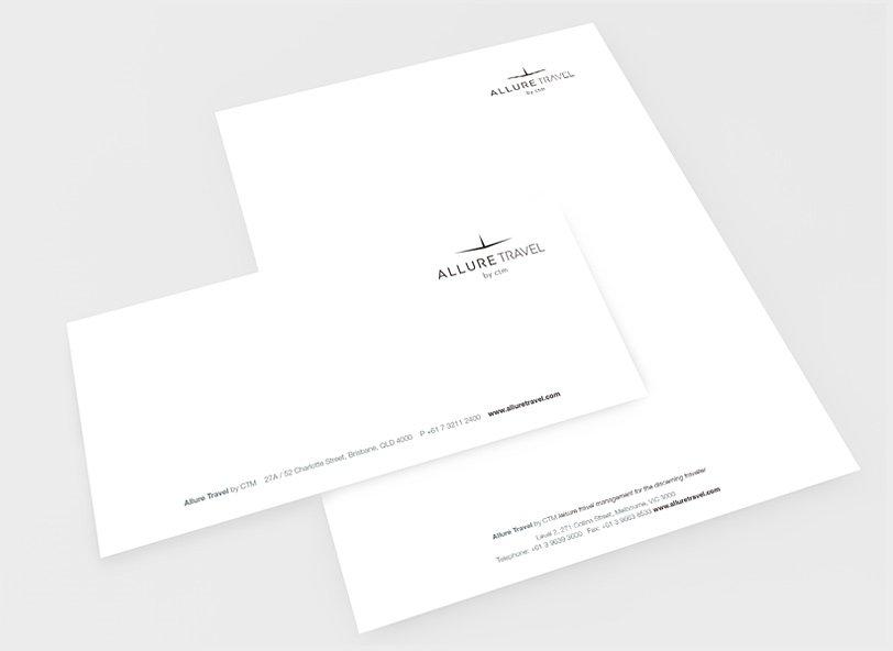 Allure Travel: stationery design