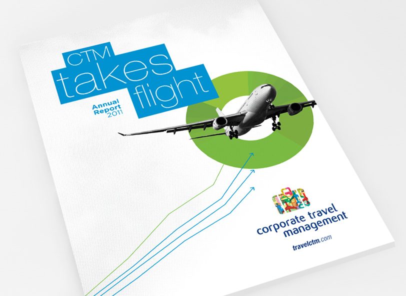CTM: corporate annual report design cover