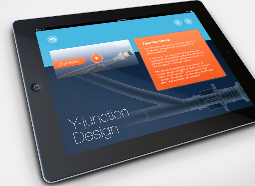 Baxter Freeline Solo interactive iPad app design and development