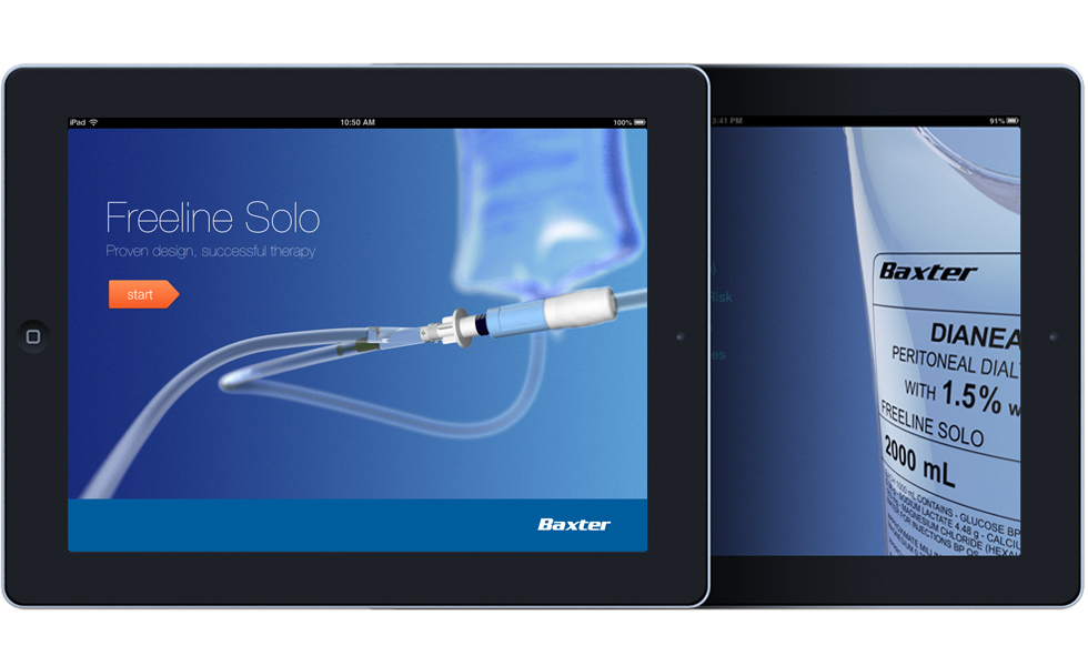 Baxter Freeline Solo iPad app: 3D product animation