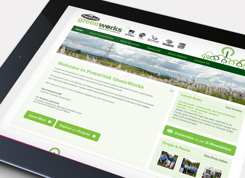 Greenworks website homepage design