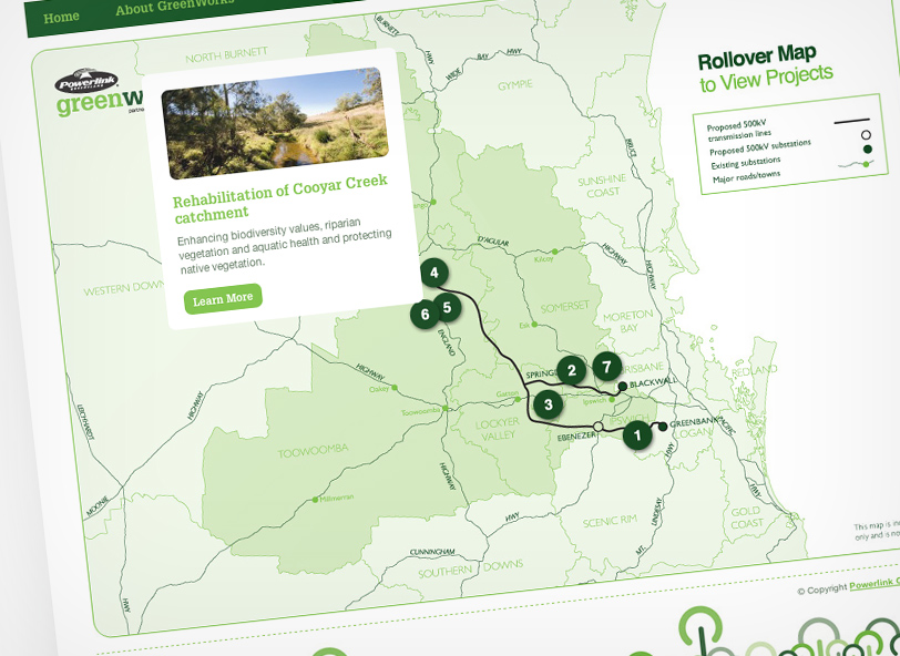 Greenworks website project map