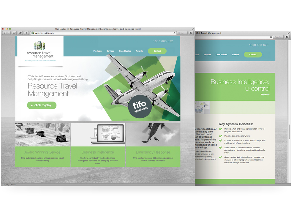 Resource Travel Management website design