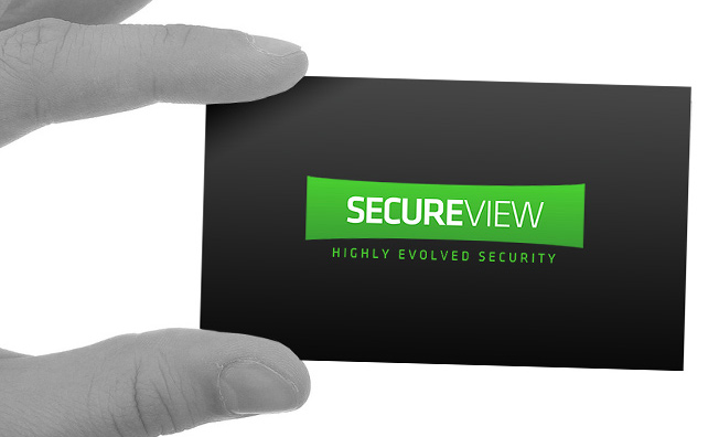 SecureView corporate ID: logo design