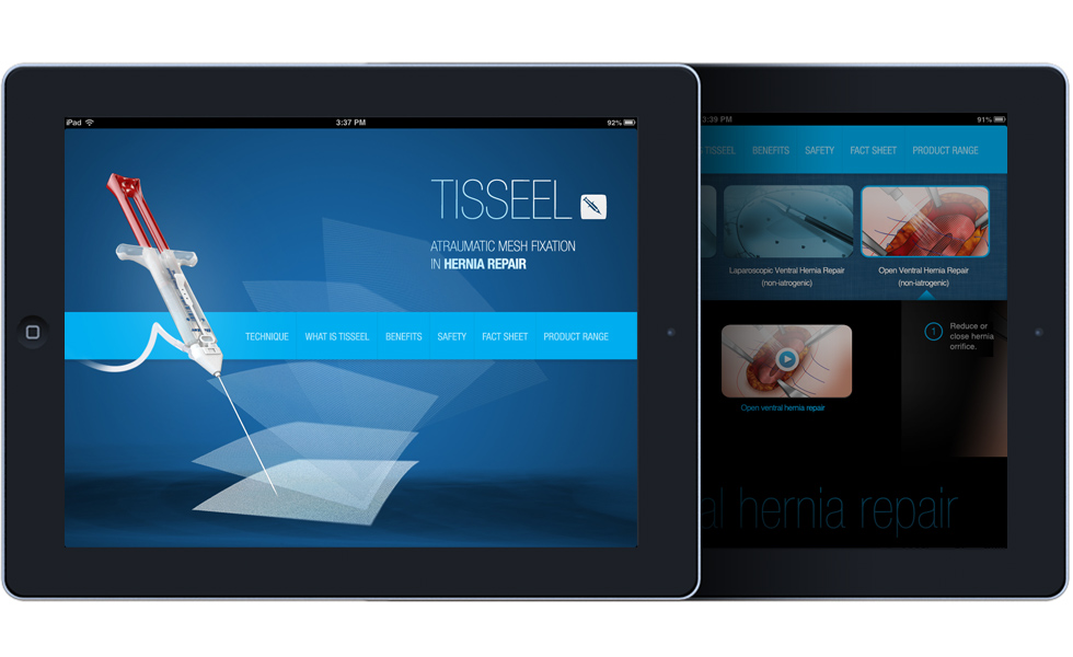 TISSEEL Hernia App design and development