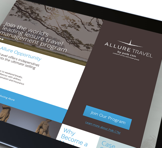 Allure Travel: online portal